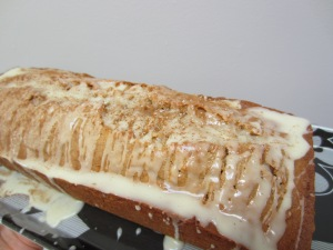 Spiced Carrot and Apple Loaf with Orange Drizzle
