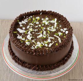 Spiced Dark Chocolate and Cherry Cake (Barfi):