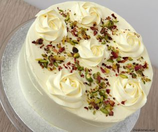 Cardamom, Rose and Pistachio Cake