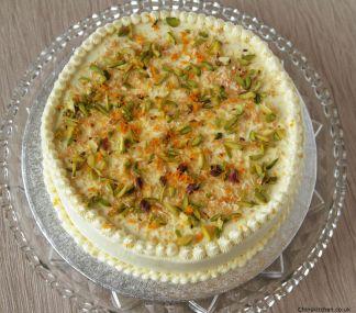 Coconut, Orange and Pistachio Cake: